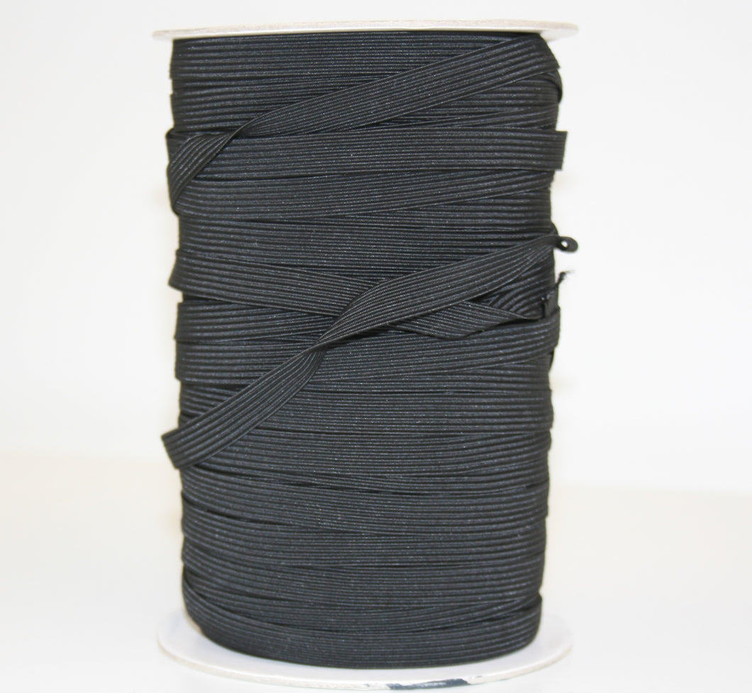 12mm Wide Elastic - Black