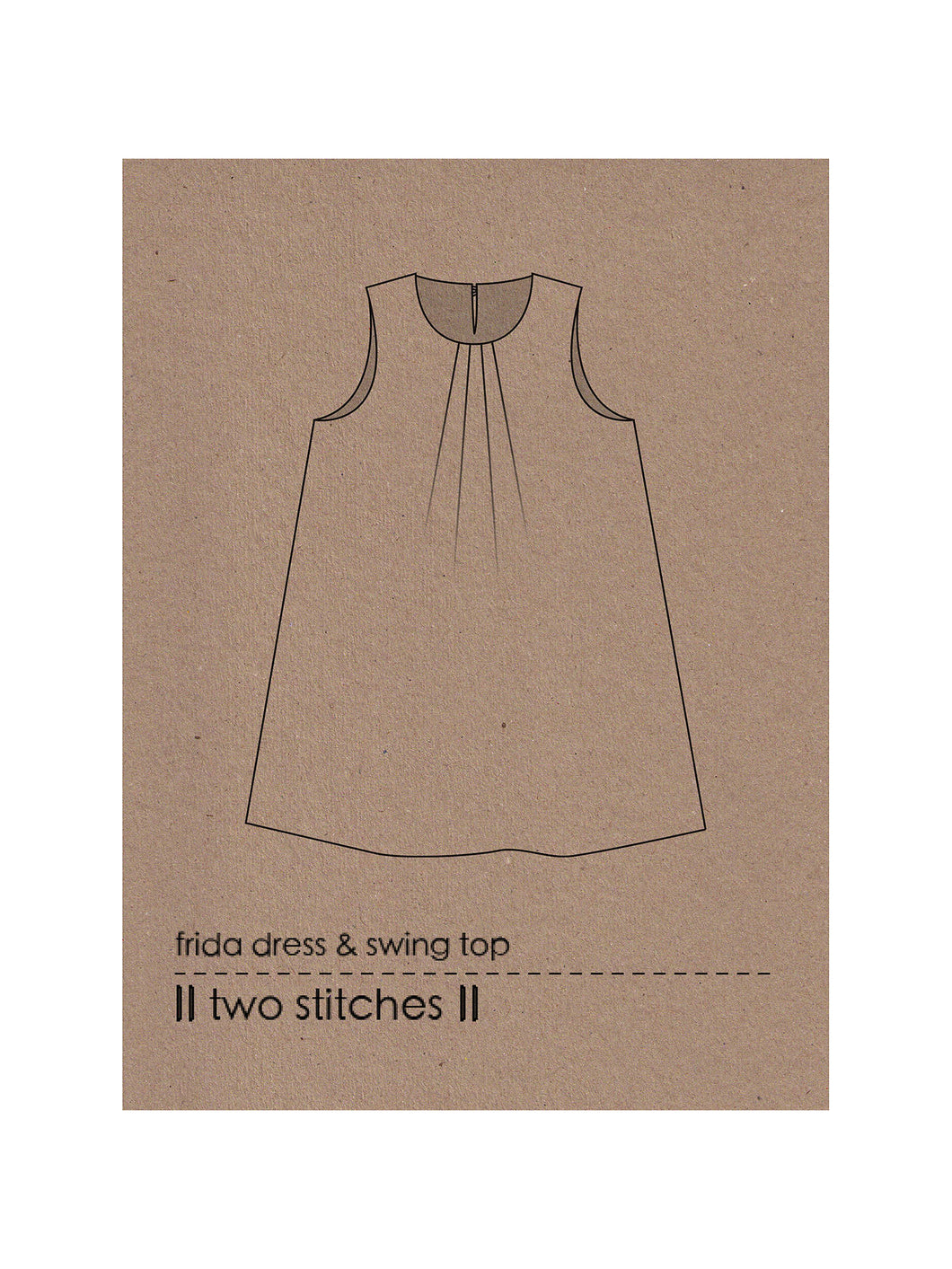frida dress & swing top - two stitches