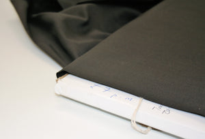 Solid Black - Cotton Voile