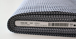Navy Yard Dyed Gingham - Cotton Poplin
