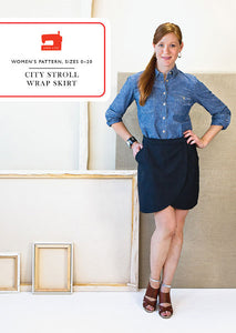 City Stroll Wrap Skirt - Liesl + co