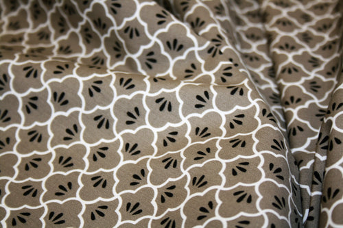 Brown Print - Cotton Poplin