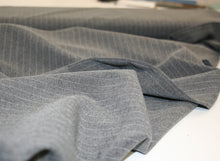 Grey Pinstripe - Polyester Suiting