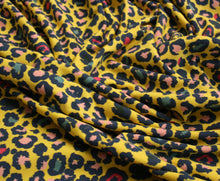 Yellow Leopard Print - Cotton Jersey