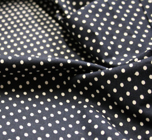 Navy Dot - Cotton Poplin