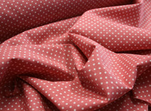 Salmon Dot - Cotton Poplin