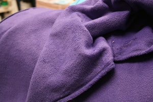 Solid Purple Anti-Static Fleece