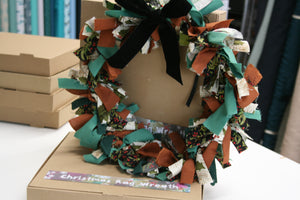 Christmas Rag Wreath - NO SEW Kit