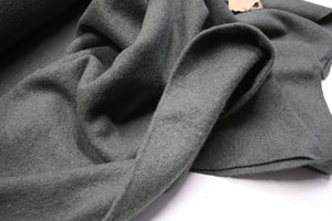 Solid Khaki - Boiled Wool