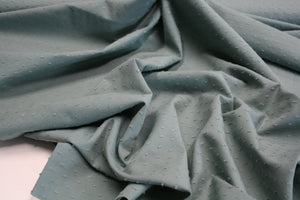 Dusty Mint Green Dobby Spot - Cotton