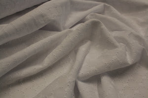 White Broderie Anglais - Cotton