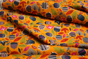 Light Orange Acorns - Walk in the Woods Collection - Cotton