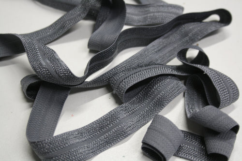 Grey - Stretch Jacquard Bias Tape - 20mm
