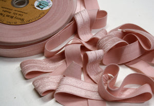 Powder Pink - Stretch Shiny Bias Tape - 20mm