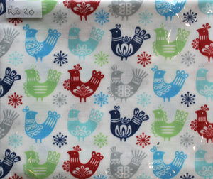 Christmas Scandi Chicks - Fat Quarter (Approx 57cm x 50cm)