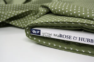 Green Dot - Cotton Poplin