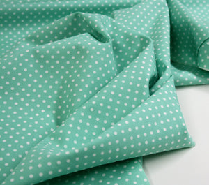 Pastel Green Dot - Cotton