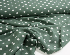 Fern Green Tea Party Polka - Polyester