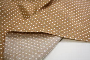 Beige Dot - Cotton Poplin