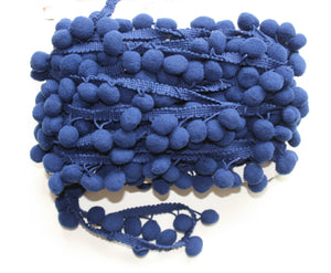 Dark Blue - Pompoms