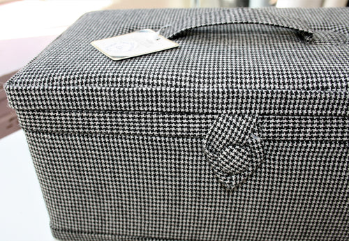 Houndstooth Storage Basket