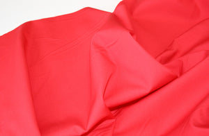 Solid Bright Red - Cotton Poplin