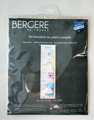 Height Chart - Cross Stitch Kit - Bergere