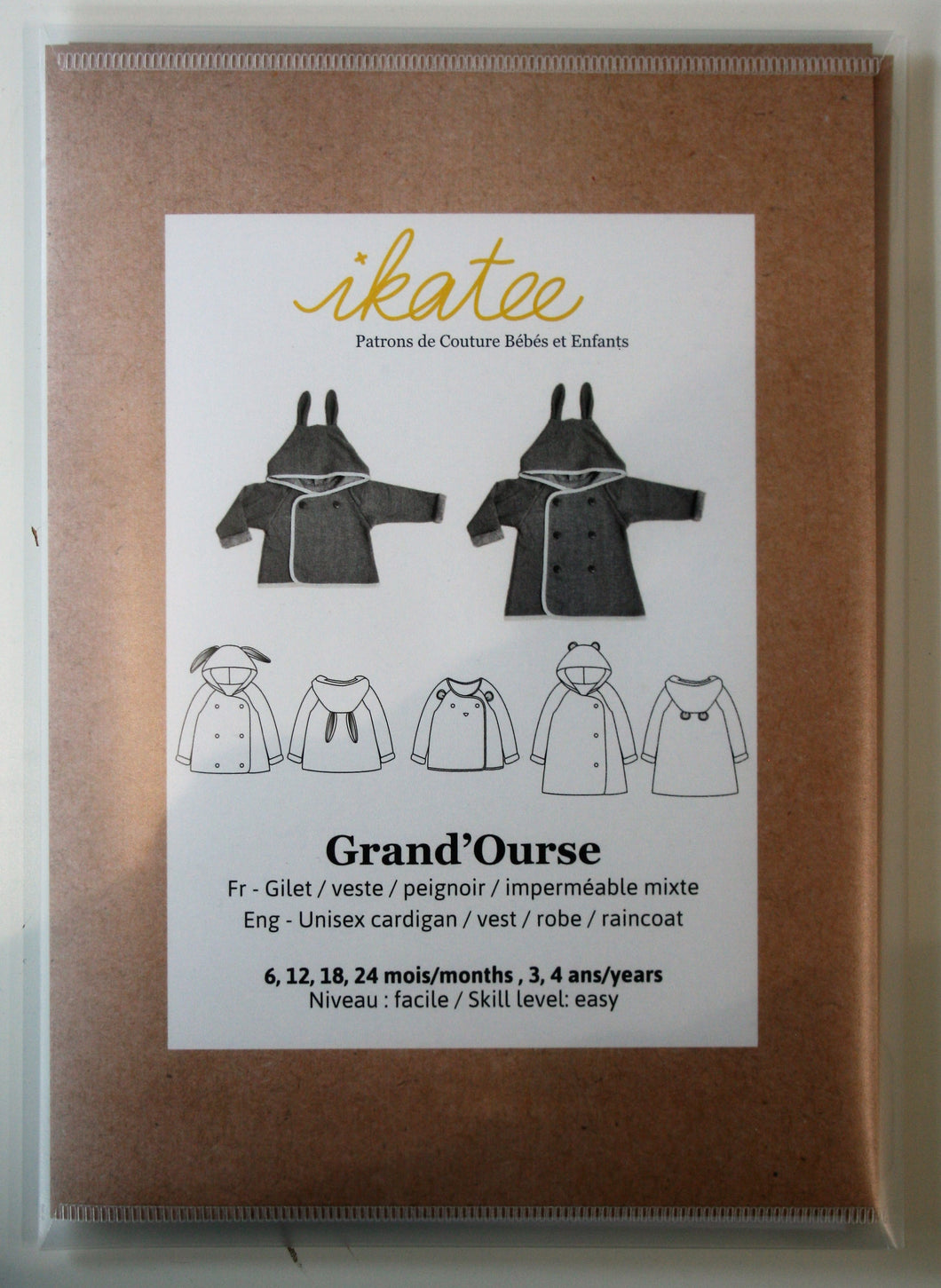 Grand'ourse Baby 6m-4yr - Cardigan - ikatee