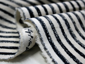 Ecru and Navy Stripe - Cotton