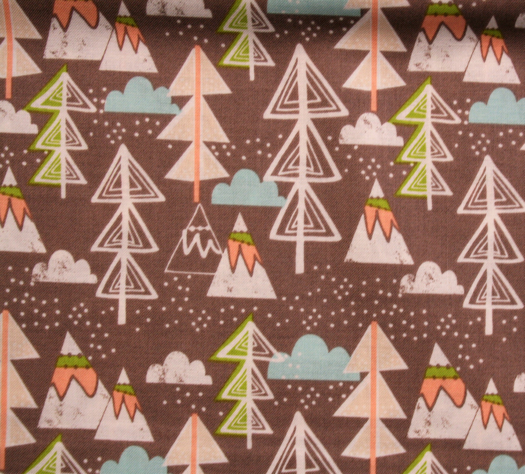 Brown Christmas Trees - Cotton