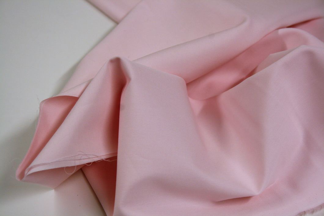 Solid Baby Pink - Cotton - 1.05mtr REMNANT