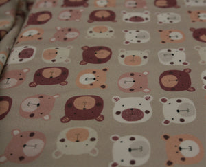 Neutrals Teddy-Bear Print - Jersey