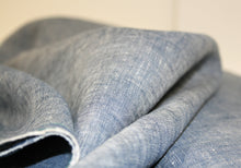 Georgio Blue Washed - Linen Fabric