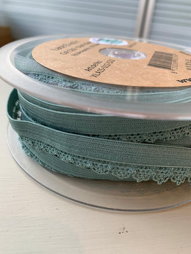 Dusty Green - Lace Elastic - 12mm