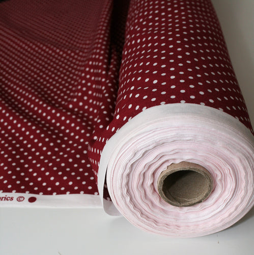 Wine Dot - Cotton Poplin