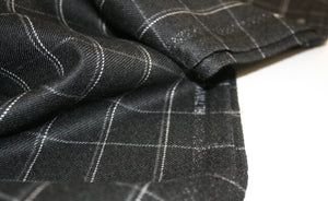 Black Check - Wool Suiting