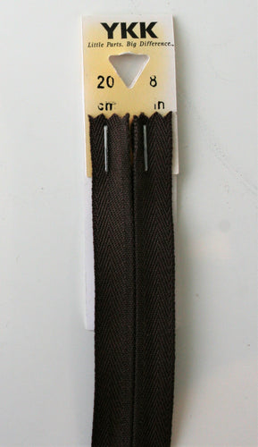 Brown 570 - Concealed Zips - YKK