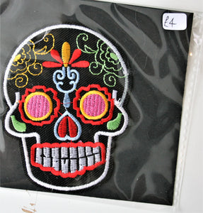Mexican Skull - Iron On Motif