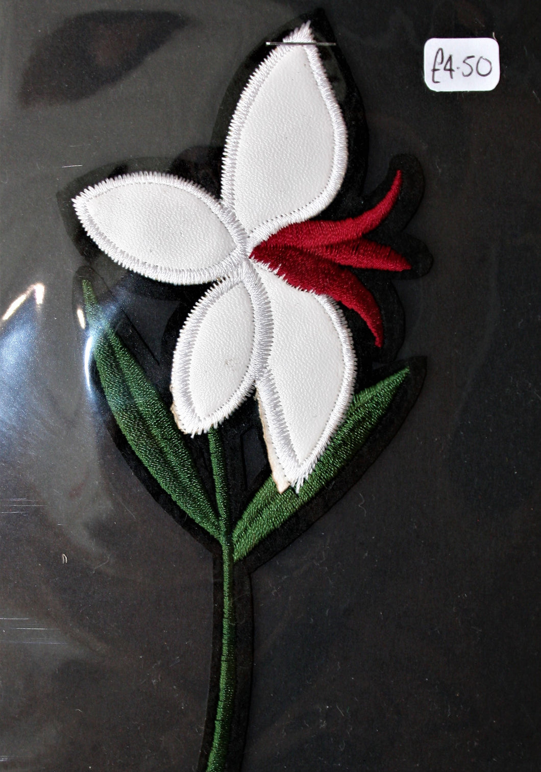 Faux Leather Lily - Iron On Motif