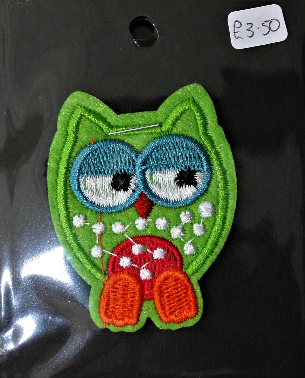 Green Owl - Iron On Motif