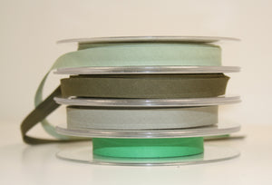 12mm Wide Polycotton Greens - Bias Binding