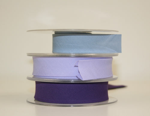 25mm Wide Polycotton Purples - Bias Binding