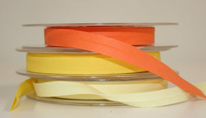 12mm Wide Polycotton Yellows - Bias Binding