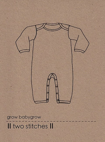 grow babygrow - two stitches