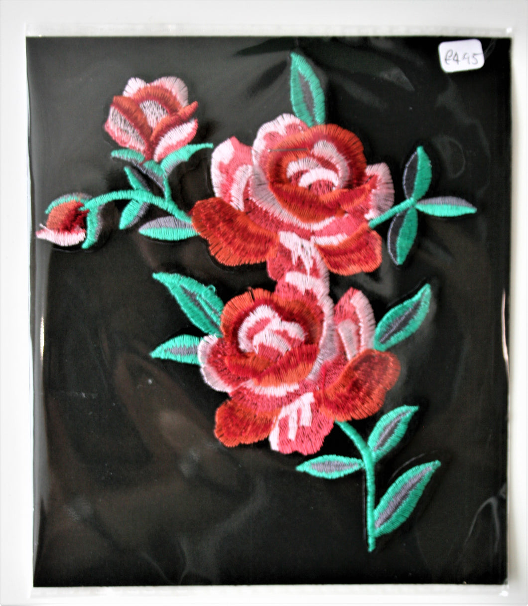 Large Pink Rose - Iron On Motif