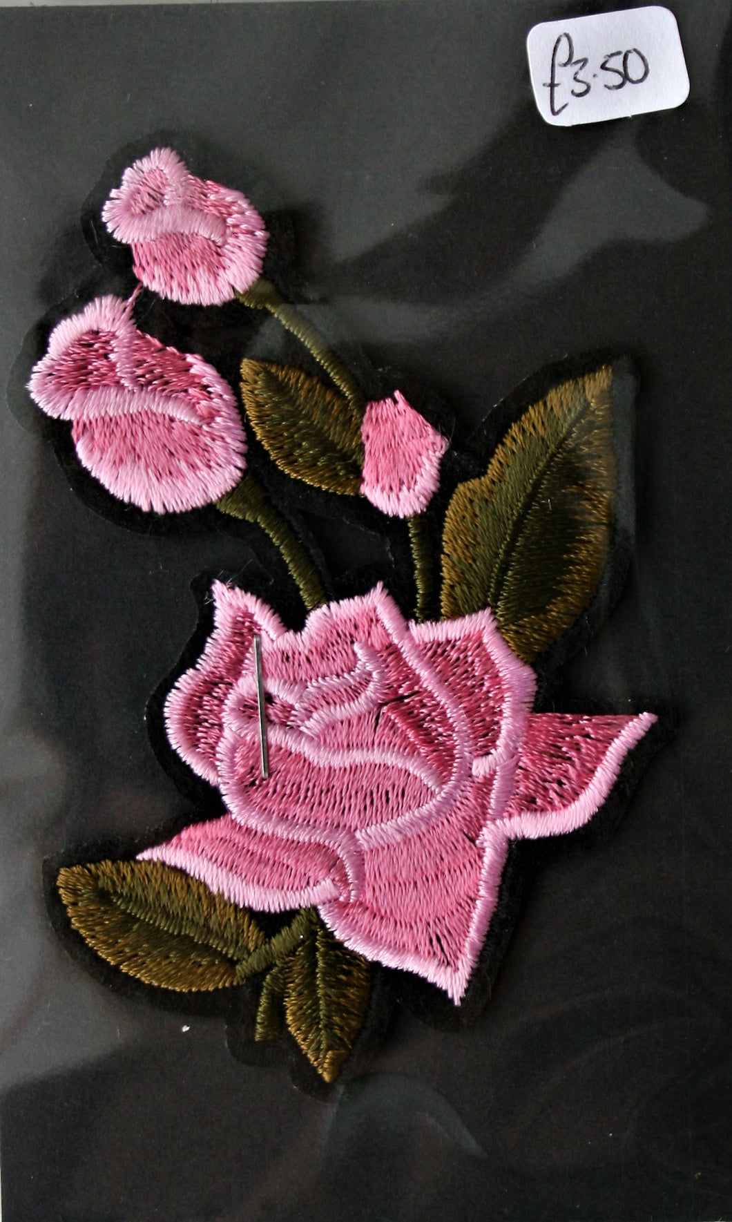 Pink Rose - Iron On Motif