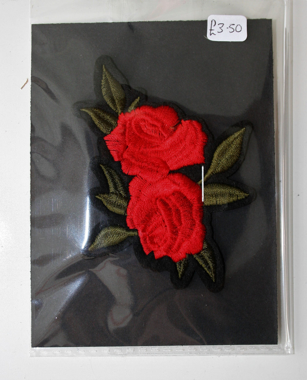 Red Double Rose - Iron On Motif