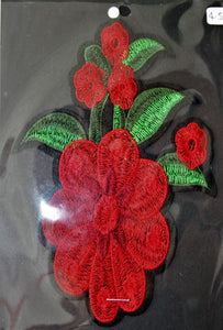 Large Red Flower - Iron On Motif