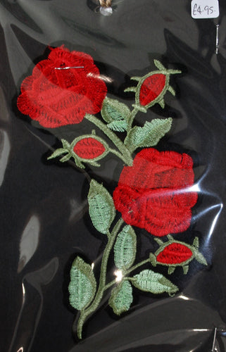 Red Roses - Iron On Motif