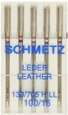 100/16 Leather Needles - 5 Pack - Schmetz 130/705HLL